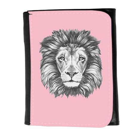 Cartera para hombre // Q05160630 Dibujo león Rosado // Small Size Wallet