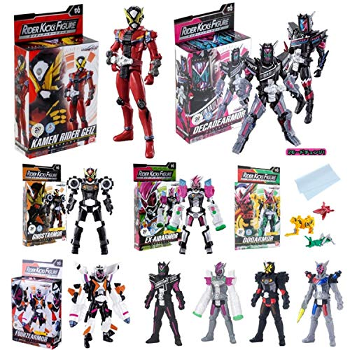 Bandai Kamen Rider Zi-O RKF Rider Armor Series Kamen Rider Action Figure Rider KICK'S Figure & Rider Hero Series Armor Soft Vinyl Figure All Set of 11 Lucky Bag