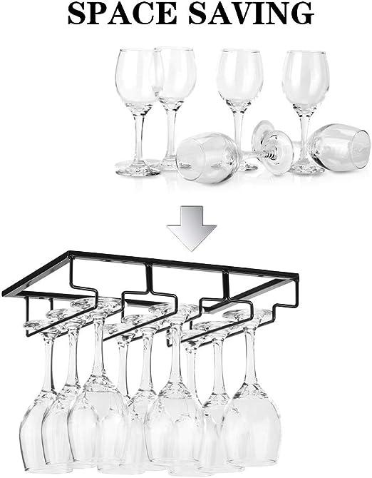 Soporte para colgar copas de vino y copas de vino VSTAR66 accesorios blanco soporte de metal para cocina copas de vino