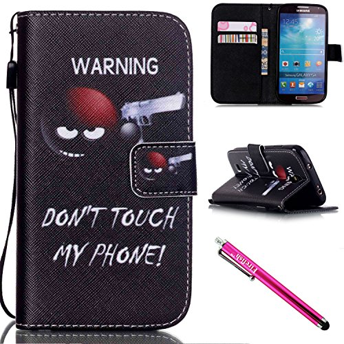 Galaxy S4 Case, Galaxy S4 Wallet Case, Firefish [Card Slots] [Kickstand] Flip Folio Wallet Case Synthetic Leather Shell Scratch Resistant Protective Cover for Samsung Galaxy S4 i9500-Shoot