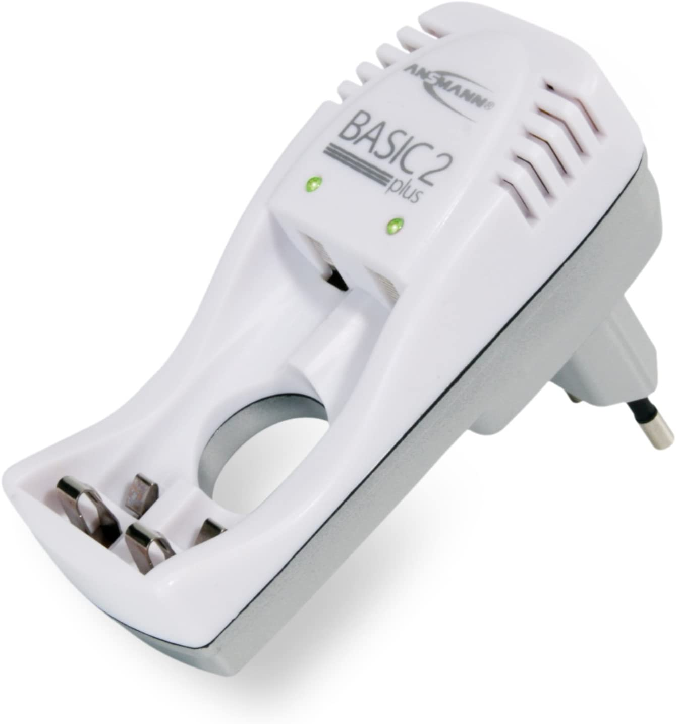 Mit Ladeanzeige  Verpolschutz /& automatischer Ladestromanpassung ANSMANN Basic 2 plus Stecker-Ladeger/ät f/ür 1-2 NiMH oder NiCd Akkus Dauerladeger/ät f/ür Micro AAA /& Mignon AA