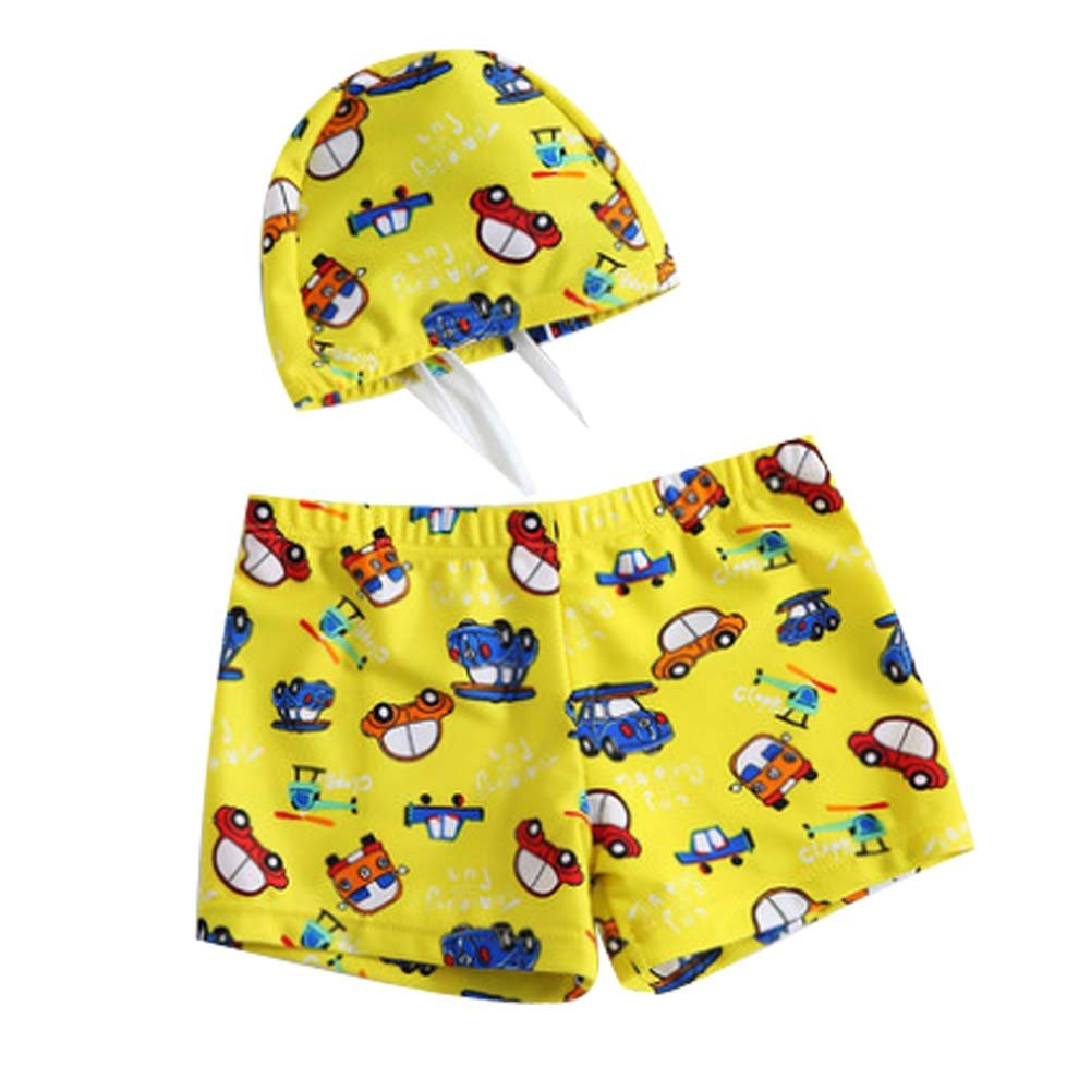Children's Swimwear Boys Swim Shorts with Swimming Cap Cartoon Swimming Trunk Panda Superstore PS-SPO2420246011-EMILY00878