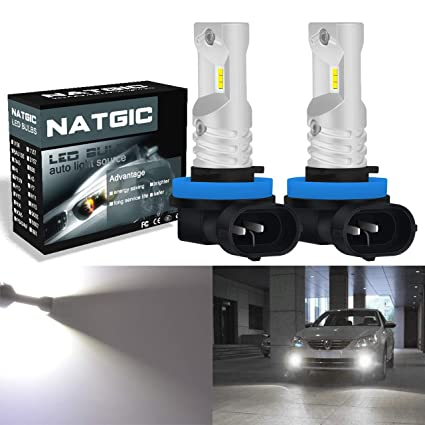 Nighteye 72W 9000LM H7 LED Headlight Kit Bulbs Fog Lights Lamp Auto 6500K White