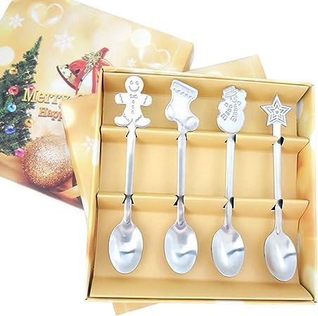 SevenMy 12/pz Natale Cucchiaio in Acciaio Inox di caff/è Cucchiaio Set 13/cm