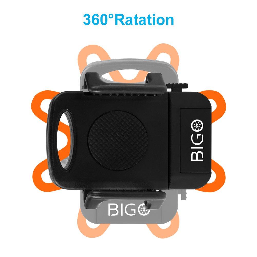 Rotabile a 360 gradi Supporto Manubrio phone Bici Moto Compatibile per GPS e altri Dispositivi Elettronici per Bicicletta Ciclismo BIGO Supporto Bici Smartphone Universale Porta Telefono Bici