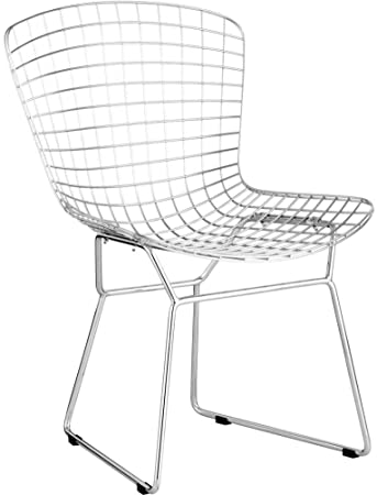 Zuo Modern 188000 Wire Dining Chair In Chrome, Icon Of Mid Century Modern,