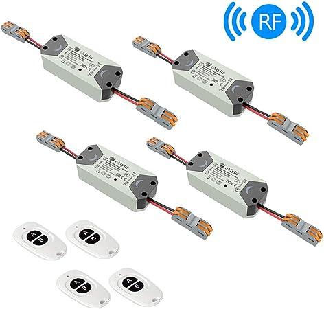 eMylo Smart Wireless RF Relay Switch DC 12V 1 canaux T/él/écommande Switch 5V-24V Home Automation 433Mhz avec deux /émetteurs 1 pack