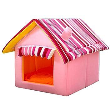 JEELINBORE Plegable Portátil Caseta Casa para Mascota Cama para Perro o Gato (Rosa, M: 45 * 35cm): Amazon.es: Productos para mascotas