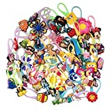 10 Pcs Random Set for Girls Luminescent Colorful Silicone Snap Lock Zipper Pull Charms