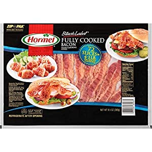 Hormel??? Black Label Fully Cooked Bacon – 72 ct by Hormel