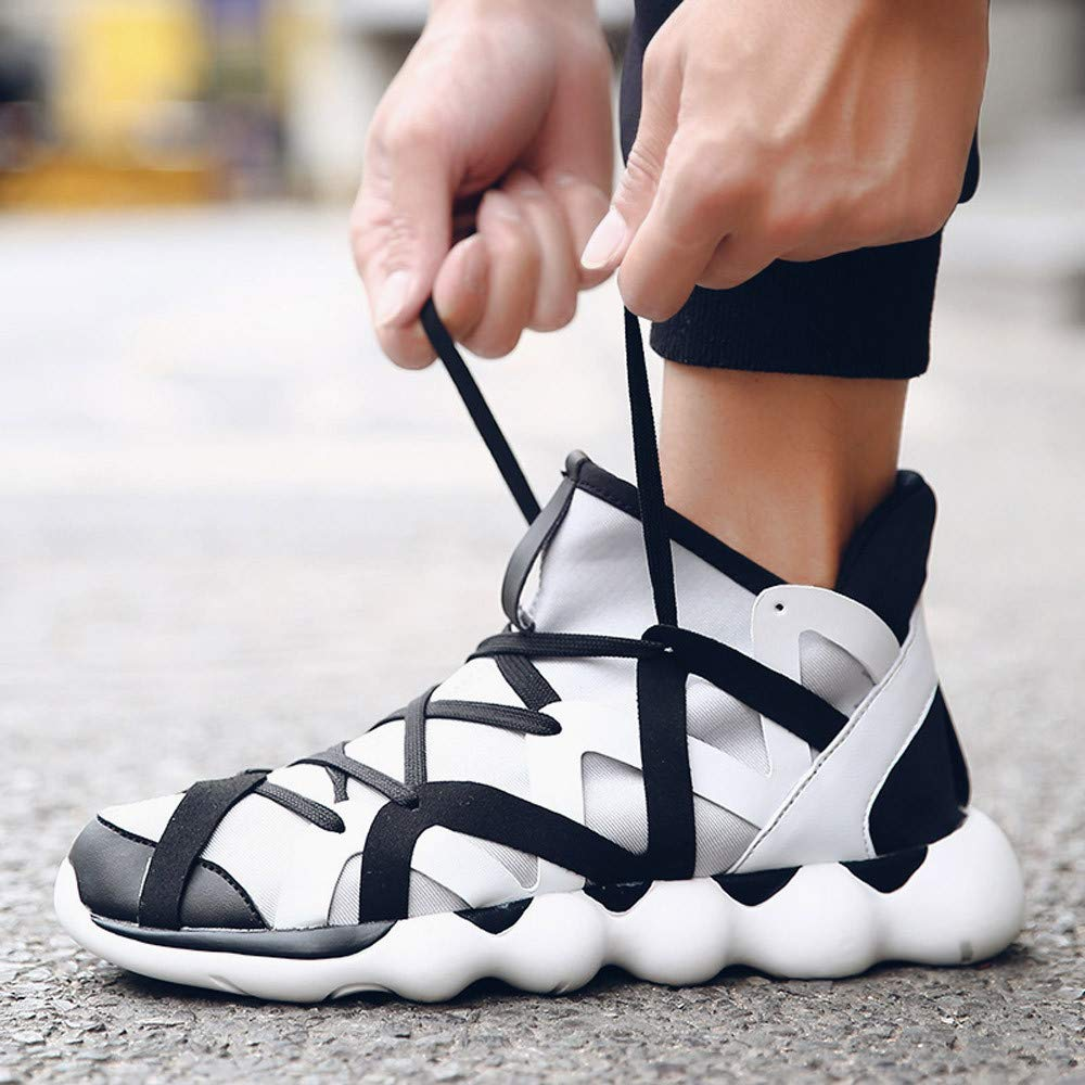 Sneakers Fashion Casual Shoes Mens Trend Fly Weave Breathable with Lightness