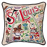 ST LOUIS HAND-EMBROIDERED PILLOW - CATSTUDIO