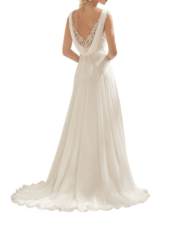 a6da5ddaf57 abaowedding womens double v neck sleeveless lace wedding dress evening dress  at amazon womens clothing store