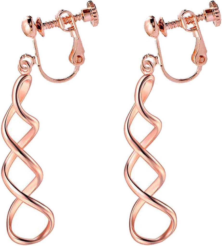 Twist Leaf Clip On Earrings...
