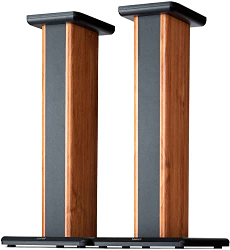 Edifier SS02 Wood Grain Speaker Stands for S1000DB S2000PRO S1000MKII Hollowed Stands for Optional Sand Filling Tuning – Pair