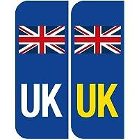Plakietka / naklejka na tablicę rejestracyjną, odblaskowa, winylowa, niebieska, 40 x 104 mm
