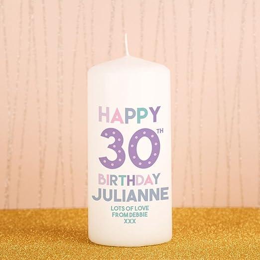 30th cumpleaños personalizable blanco Pilar Vela, Hito ...