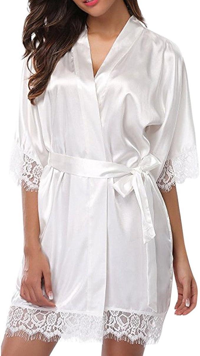 Bali Lingerie-satin nuit robe chemise de nuit lingerie déshabillé Babydoll