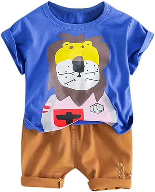 US Newborn Kid Baby Boy Top T-shirt Short Pants 2Pcs Outfit Set Clothes 0-2Years