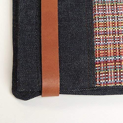 Cartera de mano grande para mujer - Bolso de hombro - de tela vaquera - Asa de piel - CHIC: Amazon.es: Handmade