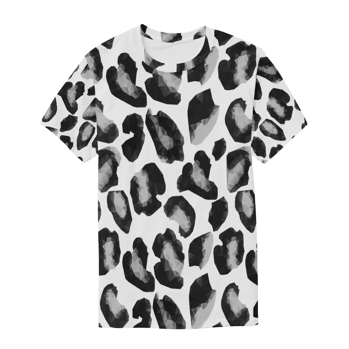Cameo Leopard Print Decor Mens T Shirts Graphic Funny Body Print Short T-Shirt Unisex Pullover Blouse