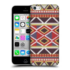 Cross-stitched Carnival Aztec Back Case For Apple iPhone 5c