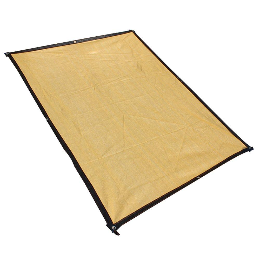 AJZGF Im Freien Sonnenschutznetz, Sonnenschirm Sonnenschutz Sonnennetz Balkon GartenBlaume Grün Sonnenschutz Sonnenschutznetz, beige (Farbe   Beige, größe   3x4m)