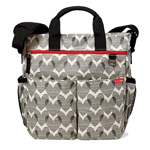 Heart Duo (Skip Hop Duo Signature Carry All Travel Diaper Bag Tote with Multipockets, One Size, Hearts)