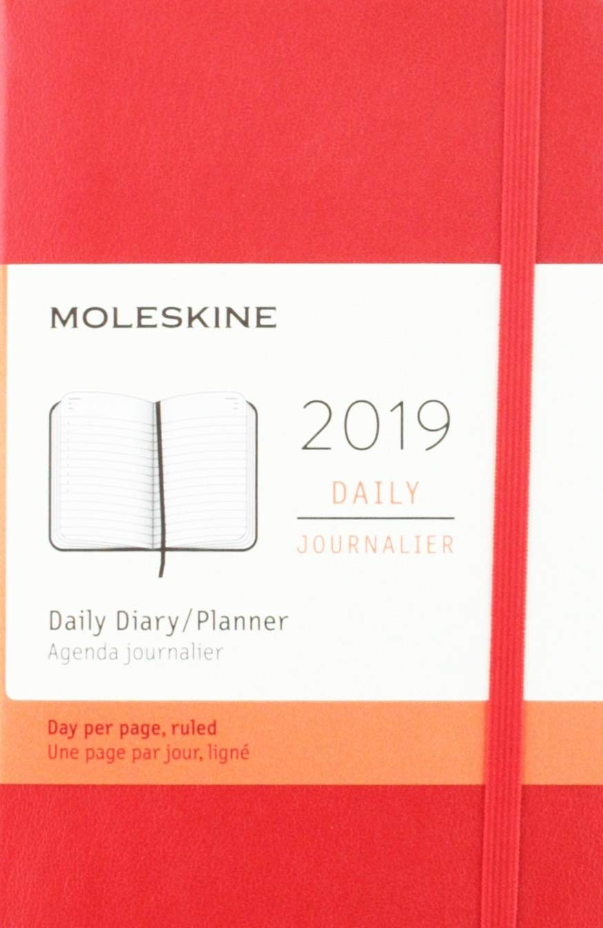 Moleskine Red Scarlet 2019 Daily Diary Planner: Moleskine ...