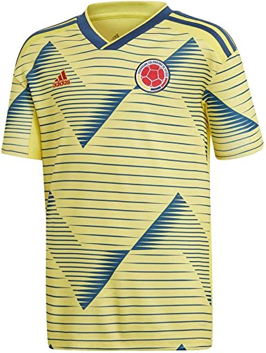 adidas Youth Colombia Home Jersey 2019-LIGHT Yellow/Night Marine ...