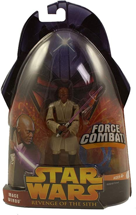 Amazon Com Mace Windu Force Combat From Star Wars Revenge Of The Sith Collection 1 Toys Games