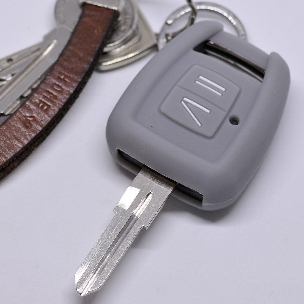 Soft Case Silikon Auto Schlüssel Schutz Hülle Grau Kompatibel Mit Opel Zafira A Astra G Vauxhall