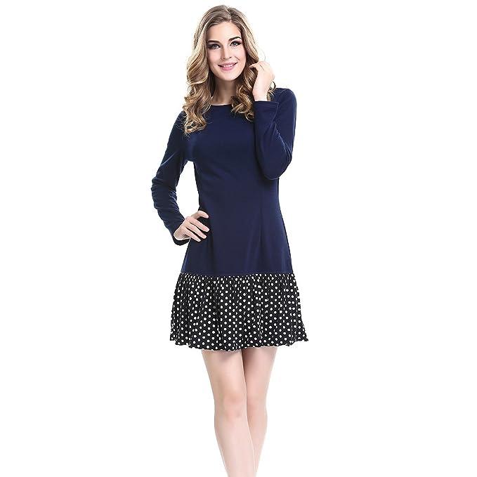 Las mujeres Mini vestido manga corta vestido CASUAL vestido de manga larga vestido