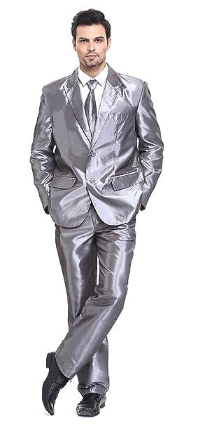 Traje de Hombre 3 Piezas Regular Fit con Chaqueta Pantalones y Corbata Fiesta de Disfraces de Navidad Trajes de Fiesta