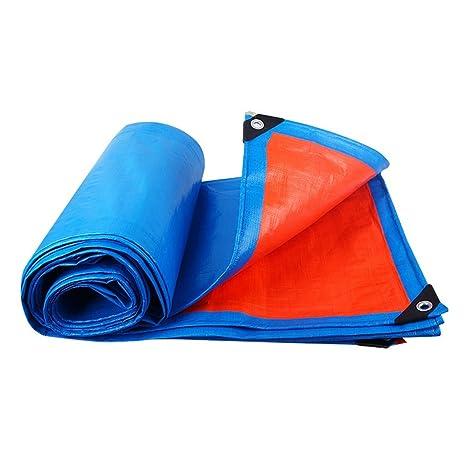 Azul + Toldo De Alquitrán De Alquitrán De Toldo De Toldo De Lona + Naranja Toldo