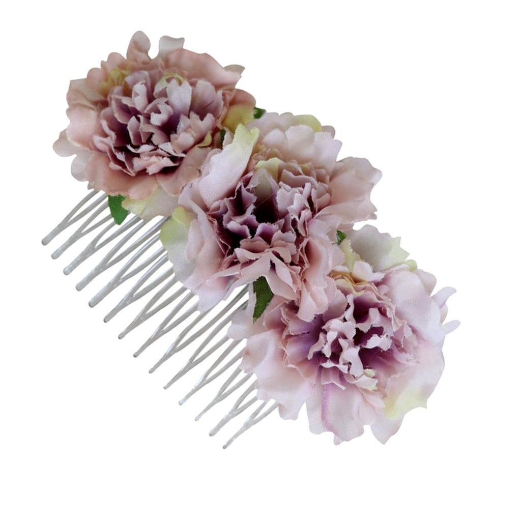 non-brand MagiDeal Peigne de Fleur Oeillet en Tissu D/écoration /Él/égant de Cheveux pour F/ête de Mariage
