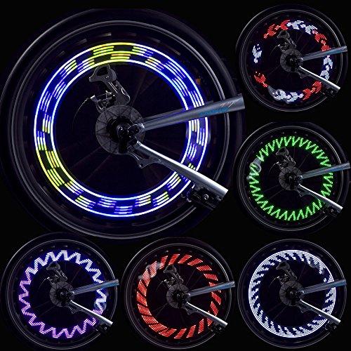 LEBOLIKE Bicycle Wheel Spoke Decorations Waterproof Seven Colorful LEDs Spoke Light - 1 Piece for 1 Wheel