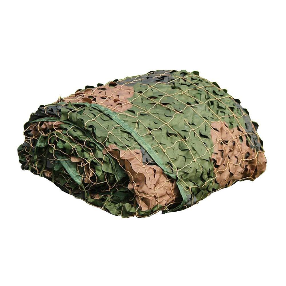 Panno ombra GJM Shop Camouflage Net Shading Net Camo Netting Woodland Military Mesh Tessuto Oxford per Riprese Hide Army Camping (Dimensioni   3x6M)