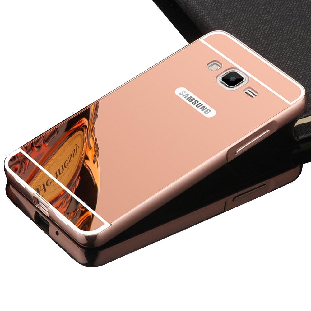 Vandot Duro Híbrido Carcasa para Samsung Galaxy J5 2015 J500 (NO PARA Samsung Galaxy J5 2016 J510) Premium Bumper Case del Metal Aluminio + PC ...