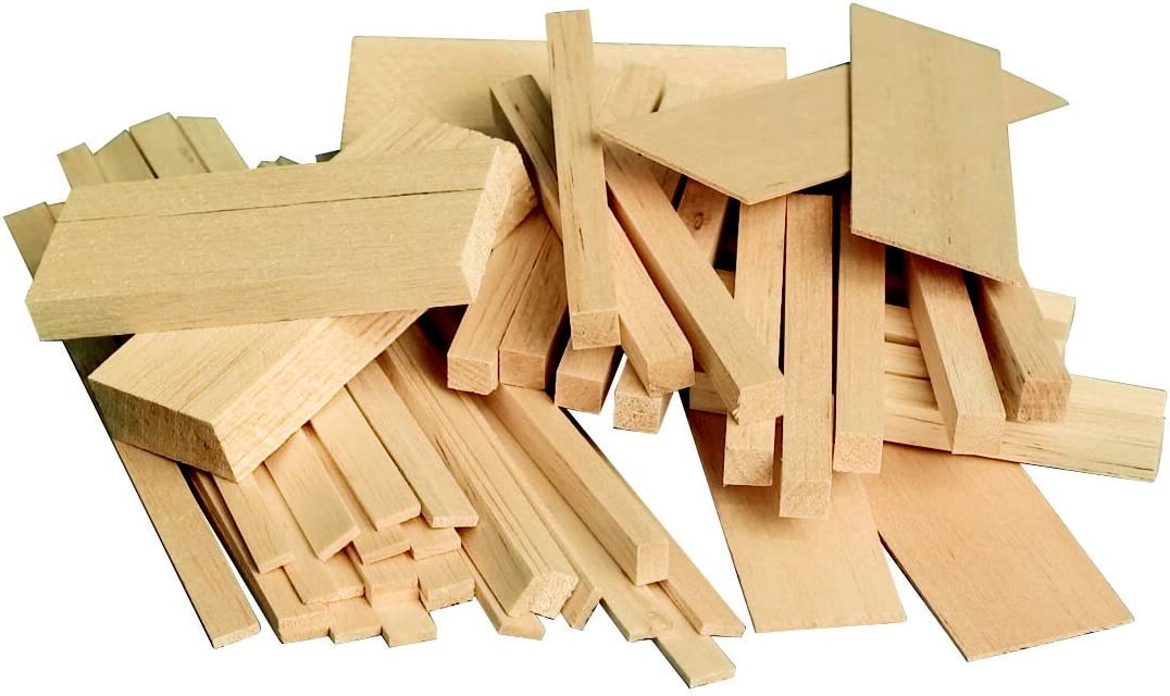 Sax Midwest Products Project Woods Balsa Economy Bag, Assorted Sizes - 407055