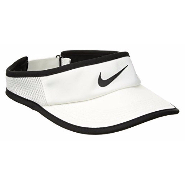 Nike Women's AeroBill Feather Light Visor (White) (3 Pack)