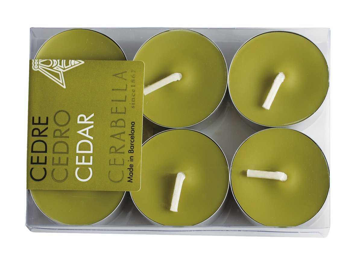 Candele profumate Cerabella in cera vegetale, profumi naturali. Misure di ogni candela profumata: 3,5x 1,5cm. Confezione da 6lampadine profumate 3,5x1,5 cm Rosa