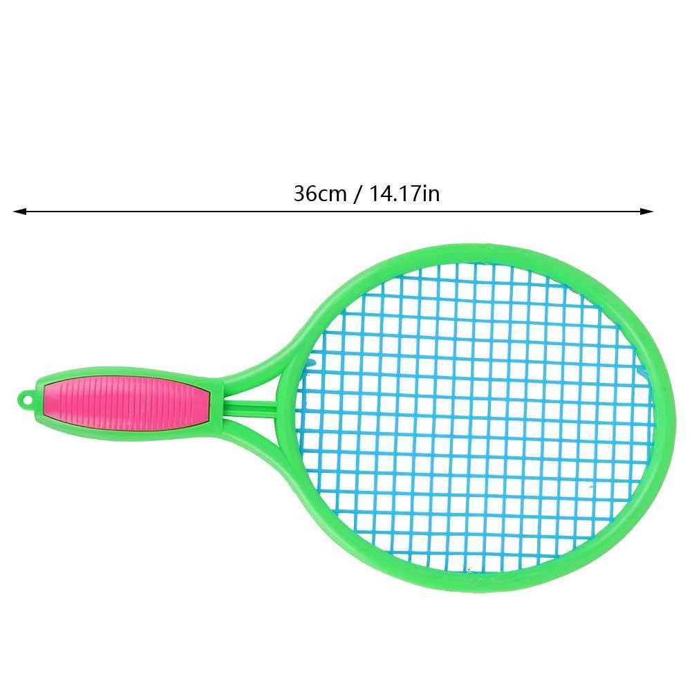 Alomejor Kids Rackets Set Children Tennis Rackets 36cm 1 Pair Sports Portable Kids Badminton Rackets with Badminton Ball Tennis Ball for Kids Children Boys Girls Sports Training