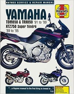 Yamaha TDM850, TRX850 & XTZ750 89-99 Haynes Service and ...