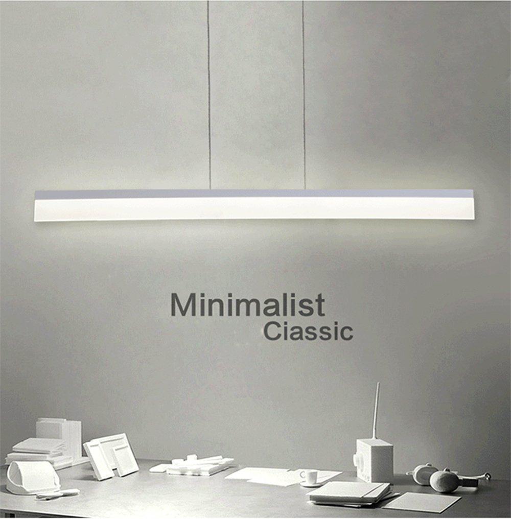 ART LAMPS Moderne Büro LED Acryl Mit Streifen Anhänger Kronleuchter ...