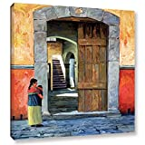 Art Wall Guanajuato Door Gallery Wrapped Canvas Art by Rick Kersten, 36 by 36-Inch