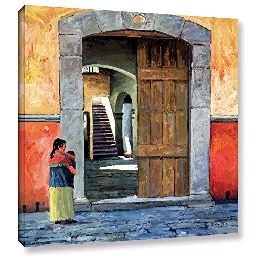 ArtWall Guanajuato Door Gallery Wrapped Canvas Art by Rick Kersten, 36 by 36-Inch
