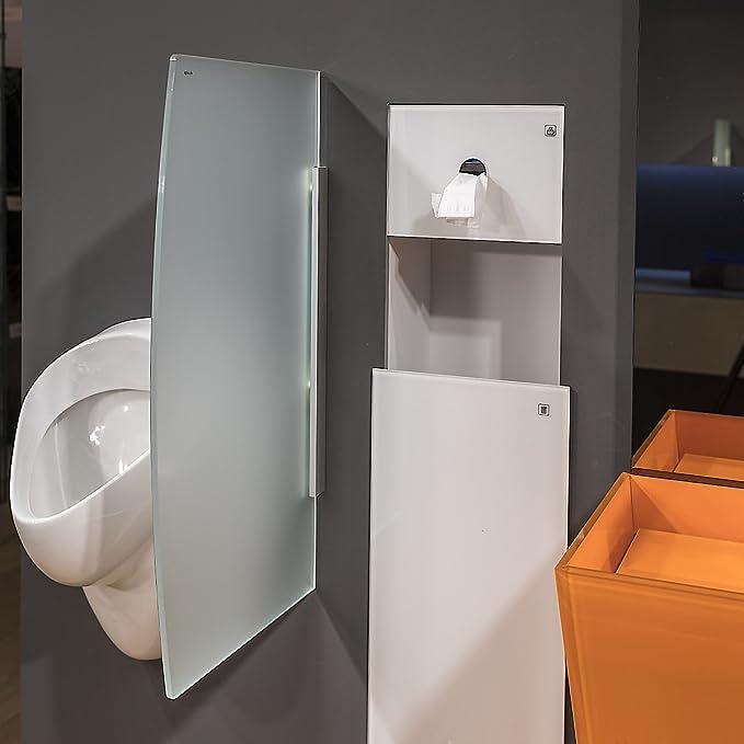 GlasExpert Glas f/ür Haus Vetro Divisorio Orinatoio 450 Millimetri x 850 Millimetri di Vetro Orinatoio Orinatoio Divisorio Vetrata a Parete Servizi Igienici di Ripartizione