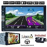 Bluetooth Car Navigation GPS MP5 joueur 2 din écran tactile stéréo radio automatique 7 pouces Récepteur véhicule multimédia PC Système No-DVD HD avec caméra de recul