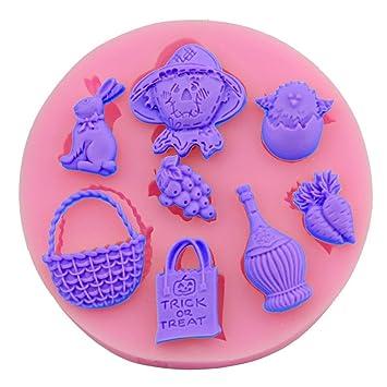 Xiao & Fei frutas y hortalizas cesta de tarta Fondant molde para hornear de silicona DIY